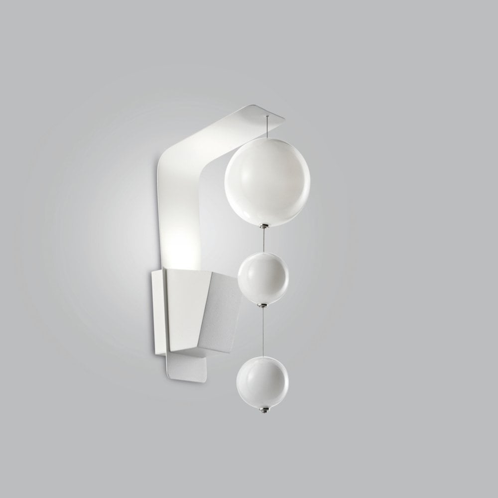 Metal Lux Bolero 1 Light Wall Lamp 3 Bubbles Choice Of Glass And Fitting Colour Wall Lights From Envogue Lighting Uk